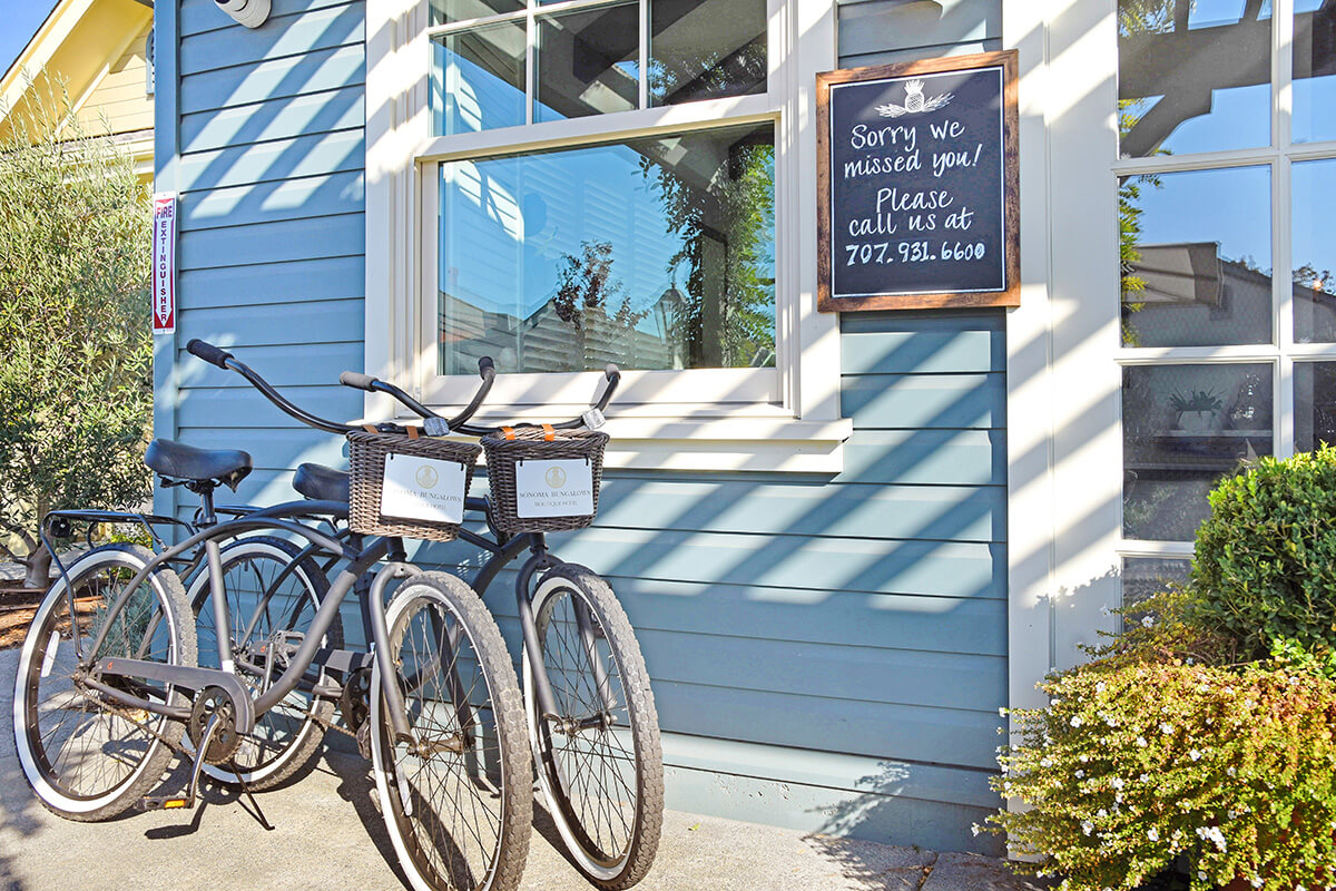 Complimentary Bikes at Sonoma Bungalows